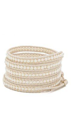 Chan Luu Wrap Bracelet white on white Diy Jewelry, Beaded Jewelry, Jewelery, Jewelry Accessories, Jewelry Making, Fashion Jewelry, Beaded Wrap Bracelets, Jewelry Bracelets, Bracelet Crafts