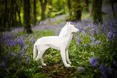 3D Paper Wolf / Dog Papercraft Template DIY Paper by Paperpetshop