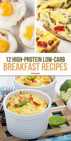 Skip sugary cereals and start your day right with one of these 12 high-protein low-carb breakfast recipes! Skip sugary cereals and start your day right with one of these 12 high-protein low-carb breakfast recipes! High Protein Snacks, Low Carb High Protein, Protein Dinner, Low Fat Low Carb, Protein Diets, Whey Protein, Low Carb Chicken Recipes, Healthy Low Carb Recipes, Low Carb Dinner Recipes