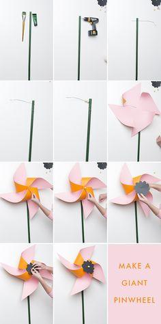 DIY Giant Flower Pinwheel Step-by-Step Tutorial