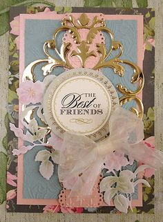 Beautiful Anna Griffin handmade card. Love the gold embellishment.
