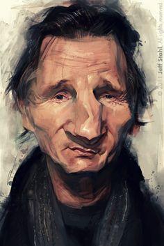l'art blog de Jeff Stahl: Liam Neeson / Caricaturama Showdown 3000 challenge