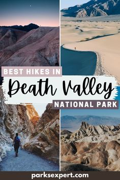 In the largest national park in the lower 48, there are so many trails to choose from. Here are the 13 best hikes in Death Valley (plus a free checklist)! | Best Hikes in Death Valley National Park | Death Valley Hiking | Death Valley Hikes | #deathvalley #california #deathvalleynationalpark #hiking #nationalparks