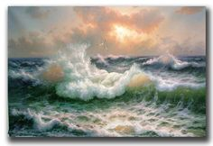 Storm sea painting