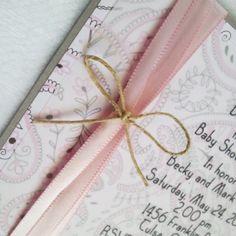 Handmade shower invitation