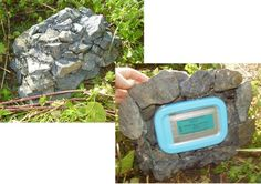 a different spin on the fake rock geocache.  A bit more like fake gravel.