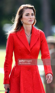 Queen Rania of Jordan attends the Sovereign's Parade at the Royal Military Academy Sandhurst on August 11, 2017 in Camberley, England. The Sovereign's Parade takes place in the Old College Square at Sandhurst's Royal Military Academy at the end of each term and marks the passing out of Officer Cadets who have completed the commissioning course. King Abdullah graduated from the Royal Military Academy in 1981 and today his son Crown Prince Hussein of Jordan was one of the graduating Officer…