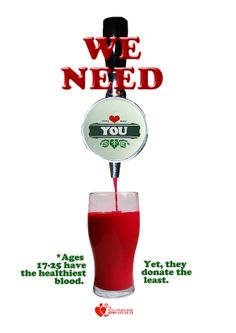 NHS blood donation poster by Tamsin Gordon, via Behance