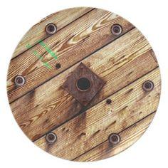 Cool Rustic Wood Plate - cool gift idea unique present special diy