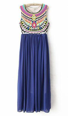 Colourful plaid vest dress X967 Blue