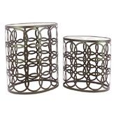 Found it at Wayfair - Geometrical Ring Designed 2 Piece End Table Set
