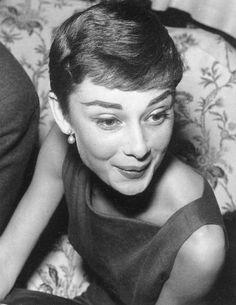 Audrey Hepburn  socializing...