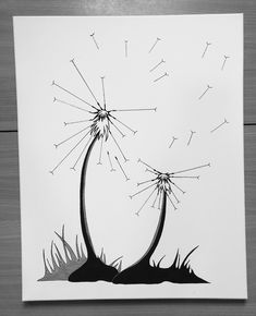 Canvas with dandelions for fingerprints - Picture Frame Dandelion Art, Stick Family, Retirement Gifts, Flower Frame, Christmas And New Year, Diy For Kids, Silhouette Cameo, Picture Frames, Moose Art