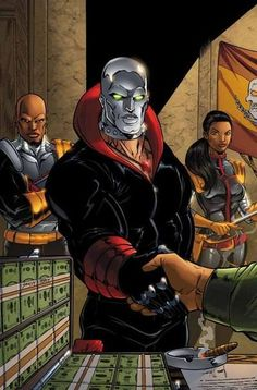 Destro - Weapons Master for Cobra. He is the reason for all of Cobra's wonderful toys.