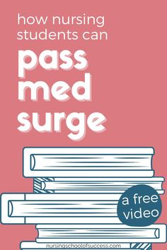Are you wondering what you can do to better understand the content and pass your med surge class? We have a free study video for nursing students who are trying to better understand med surge and want to pass their class with an A! Make sure you are prepared for your exams with our videos and cheat sheets. Everything the nursing student needs to be successful is found here! Nursing School Motivation, Nursing School Tips, Nursing Schools, Nursing Students, College Students, Nclex Questions, Nclex Exam, Medical Surgical Nursing, Nursing Pins