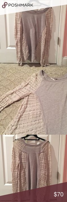 Free People Crochet Top Free People Crochet Top -size small -worn no more than 5x -good condition Free People Tops Blouses