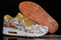 Women's Nike Air Max 90 Sneaker Jogging Shoes Flower Sneaker A  Lily