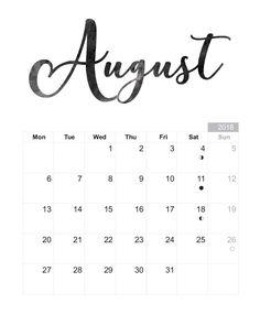 2019 Printable Monthly Calendars • Landscape • US Letter