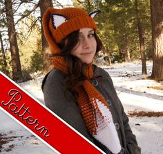 Hey, I found this really awesome Etsy listing at https://www.etsy.com/listing/88888077/crocheted-fox-scarf-hat-scat-pattern-pdf
