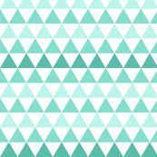 Ombre Triangle Mint SMALL scale - leanne - Spoonflower