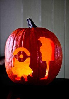 Minion and Gru pumpkin