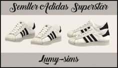Semllers Superstar sneakers conversion at Lumy Sims via Sims 4 Updates