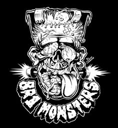 Franky design and lettering for BR1 MONSTERS T-Shirts