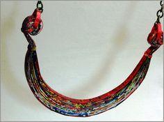 Paper Necklace & Earrings set antique by EloaJaneJewelOfPaper