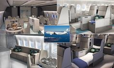 """#Inside #world""""s most #luxurious commercial jet... Michelin-star restaurant, butlers..."""