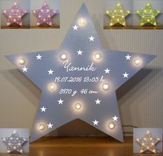 Schlummerlicht kleine Sterne Lampe Geschenk Baby Geburt Taufe mit Name auch LED FOR SALE • EUR 28,90 • See Photos! Money Back Guarantee. Bezaubernde Sternchen-Lampe mit Schalter in verschiedenen Farben für Mädchen und Jungen!! (kostenlose Beschriftung - freie Farbwahl) ~Tolle Geschenkidee zur Geburt, Taufe oder Geburtstag~ Diese süße Kinderzimmer-Wandlampe (ca.37cm x 37cm) dient 351788236866