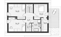 Mansarda casei cu 3 dormitoare