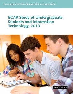 """The Educause Centre for Applied Research (ECAR) has recently published their """"ECAR Study of Undergraduate Students and Information Technology, 2013"""" report. See the ECAR 2012 report here. The report summary has the following key points and recommendations: Key Findings Students recognize the value of technology but still need guidance when it comes to better using it for academics. Students prefer blended learning environments while beginning to experiment with MOOCs. Students are ready to…"""
