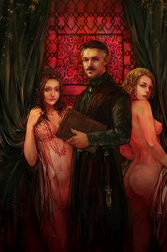 No really, if you watch Game of Thrones or read George R. Martin's book series A Song of Ice and Fire, you know Petyr Baelish aka Littlefinger is a pimp. This painting by shows Lord Baelish in his element. Lord Baelish, Petyr Baelish, Game Of Thrones Books, See Games, Cersei Lannister, Fun Comics, Arya Stark, Winter Is Coming, I Am Game