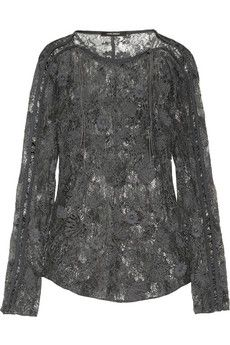 Isabel Marant Mora embroidered lace top | NET-A-PORTER
