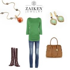 Here's a great weekend look - what will you be wearing?  http://zaikenjewelry.com/