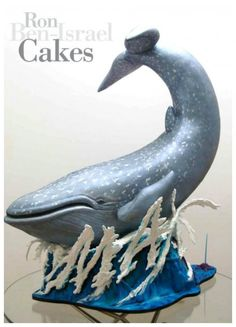 Ron Ben-Israel is just absolutely amazinggg. Absolutely stunning and amazing Whale Cake By Ron Ben-Israel Whale Cakes, Ocean Cakes, Beach Cakes, Fancy Cakes, Cute Cakes, Gravity Defying Cake, Gravity Cake, Sculpted Cakes, Cake Wrecks