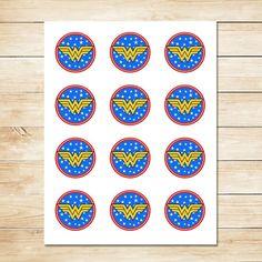 Wonder Woman Sticker / Wonder Woman Cupcake by ApothecaryTables