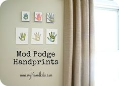 Mothers day craft for kids: handprint canvases. - Mod Podge Rocks