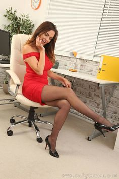 Manager in office pantyhose female