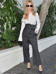 Always invited: On Wednesday, Rosie Huntington-Whiteley was no doubt at the top of the gue...