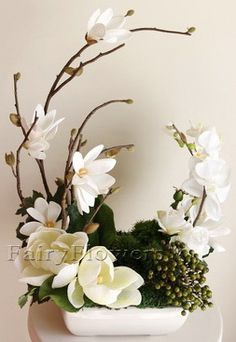 awesome Table Flower Arrangements - Fairy Flowers - The Wedding Flowers Specilaist Arrangements Ikebana, Table Flower Arrangements, Silk Floral Arrangements, Artificial Flower Arrangements, Table Flowers, Floral Centerpieces, Artificial Flowers, Flowers Garden, Contemporary Flower Arrangements
