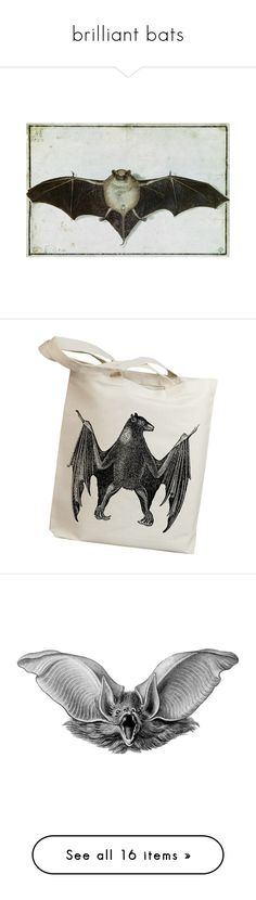 """brilliant bats"" by jennifer ❤ liked on Polyvore featuring bags, handbags, tote bags, vintage canvas tote bags, vintage purses, vintage tote bags, vintage handbags, canvas handbags, wings and animals"