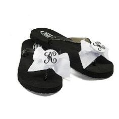 Ribbon flip flops....could so make these.