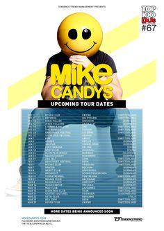Mike Candys Tour Plan, #flyer #design