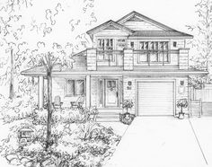 Amazing Pen and Ink Cross Hatching Masters Edition Ideas. Incredible Pen and Ink Cross Hatching Masters Edition Ideas. House Design Drawing, House Drawing, Architecture Concept Drawings, Architecture Design, Building Drawing, House Sketch, Interior Sketch, Interior Design, Draw On Photos