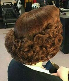 very pretty vintage style..remember mom doing this..just roll the bottom