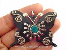 Bull's Horn Butterfly Pendanthttp://www.wholesaleperuvianjewelry.com