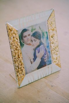 16 x 20 cm - White and Gold Glass Photoframe - Photographed by Gabriele Parafioriti Photography - Photo inside Taylor Lord