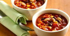 Mexikói chilis bab - Recept | Femcafe Chilis, Chana Masala, Soup, Ethnic Recipes, Chili, Soups, Chile, Chowder