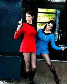Don't beat me up now Scotty #hot #beautiful #gorgeous #startrek #phasers #stun #hotties #cosplaylover #cosplay #costume